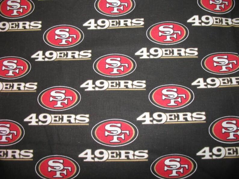 1.5 yards NFL San Francisco 49ers team logo Cotton Print | Etsy