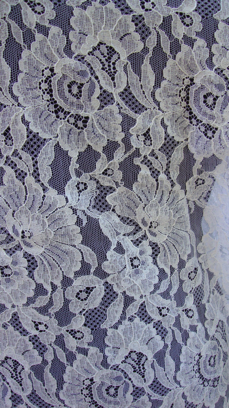 51 Wide White Cotton British Leaver Lace Victorian Style Wedding Lace Bridal Lace Antique Style Lace Eyelash Lace Made in England JM35