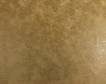 Designer Distressed Caramel Brown Faux Leather Upholstery Vinyl WHS738