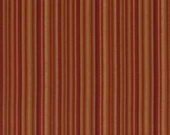 Heavy Duty Stripe Red Burgundy Beige Gold Green Upholstery Drapery Fabric