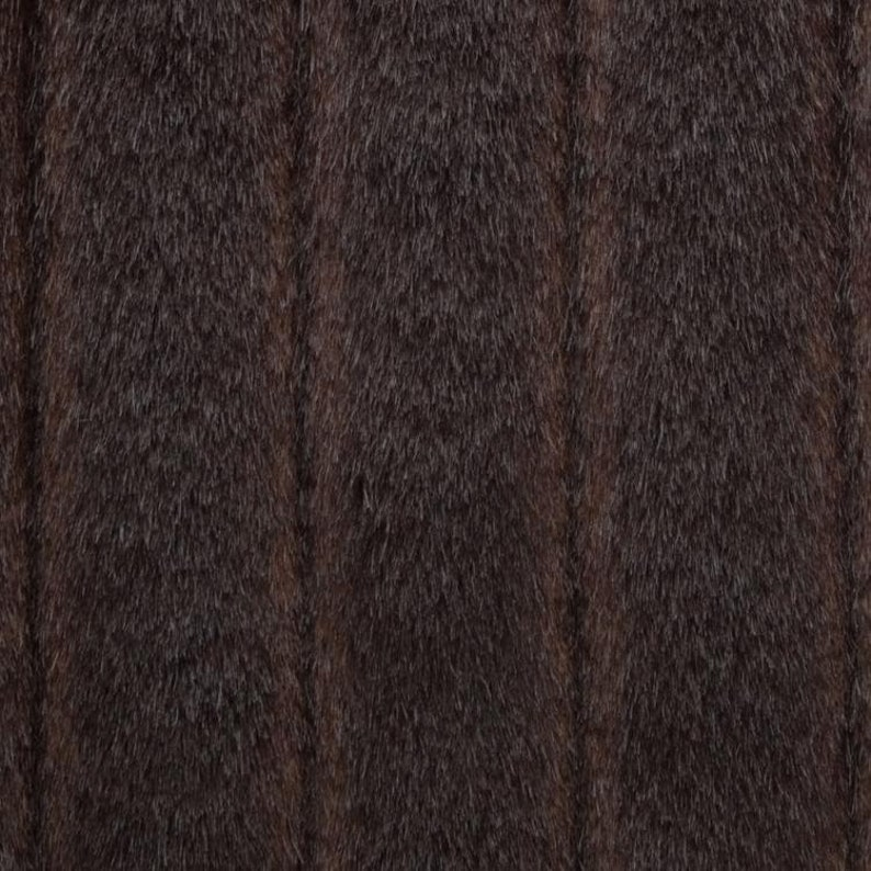 60 Wide Novelty Dark Brown Bear Striped Stripe Faux Fur Fabric for Upholstery Sewing Crafts Throw Decorative Pillow Home Decor SLX16