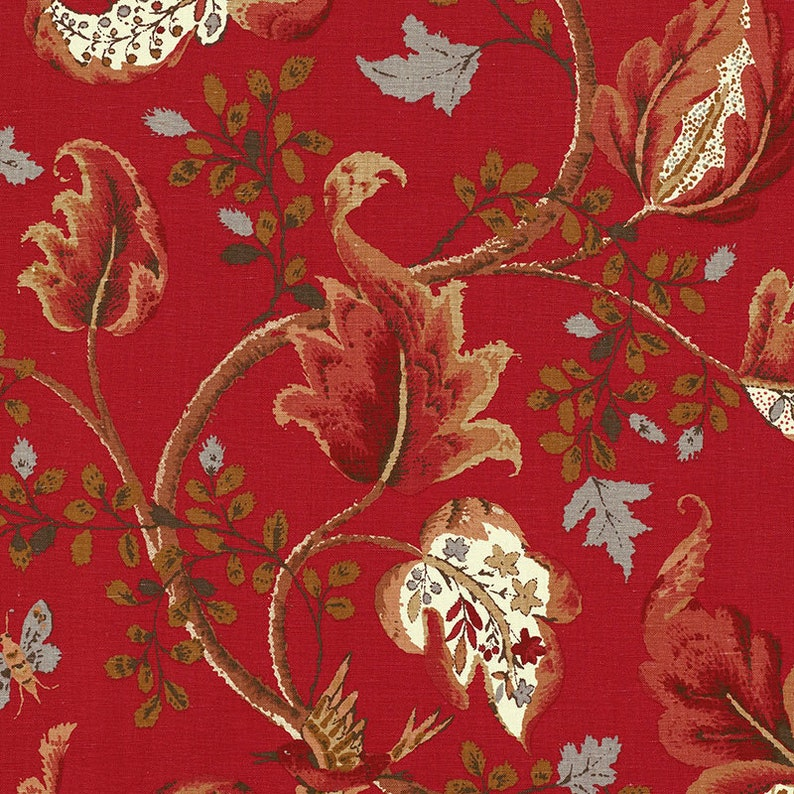 2 Yds Min Schumacher Fox Hollow 6 Colors Multi On Flannel Document On Natural Document Robin/'s Egg Linen Cotton Upholstery Drapery Fabric