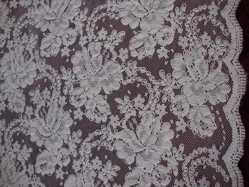 56 Wide Alencon Lace Victorian Style Wedding Lace Bridal Lace Antique Style Lace White Lace Trim Guipure  JM18