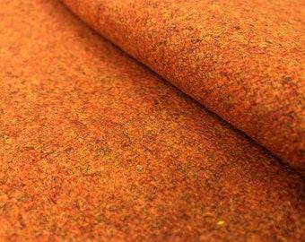 Designer Burnt Orange Tweed Water & Stain Resistant Wool MCM Mid Century Modern Upholstery Drapery Fabric STA856