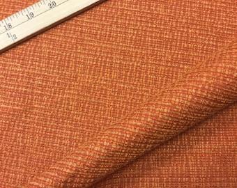 "56"" Wide Nubby Burnt Orange Deco Luxury Designer Home Decorator Mid Century Modern Upholstery Fabric for Chairs Headboard Ottomans ST"