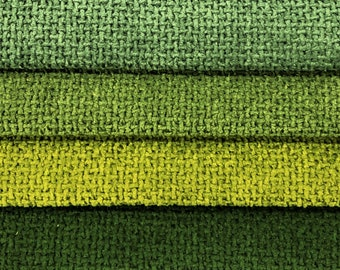 2 Yds Min Heavy Duty MCM Mid Century Mod Water & Stain Resistant Tweed Forest Olive Green Upholstery Fabric / Spinach Caper Fennel Emerald