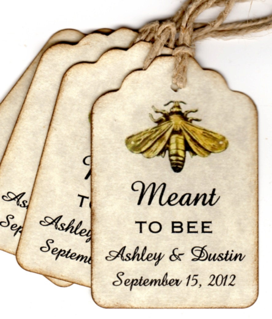 50 Honey Jar Favor Tags For Weddings Showers Parties