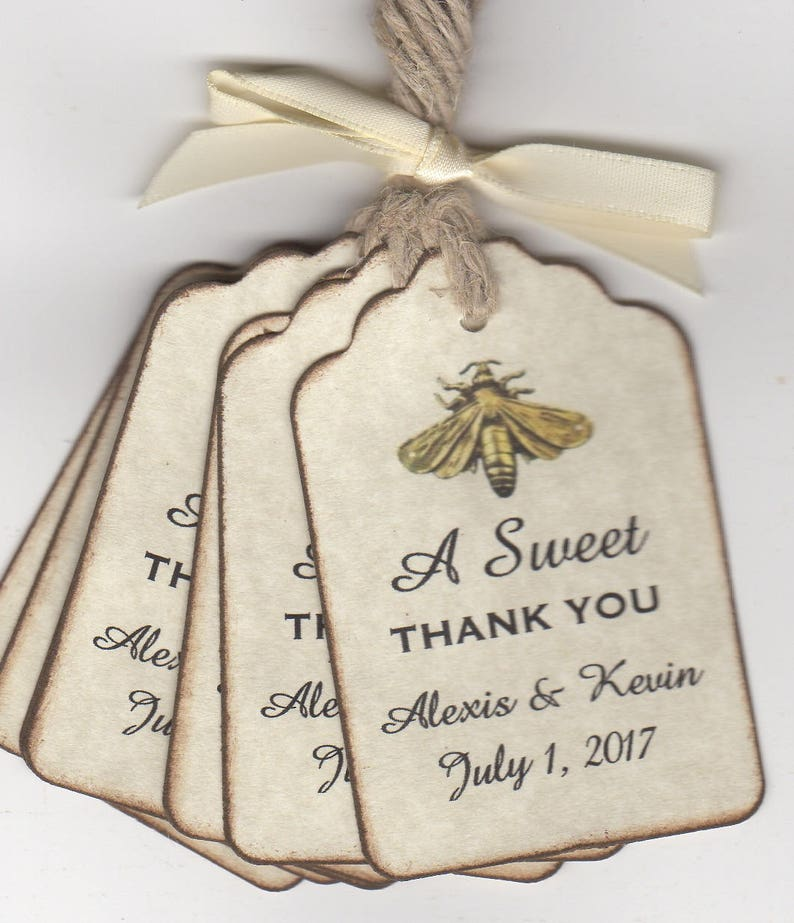 Wedding Favor Gift Tags Thank You Bridal Shower Engagement Etsy