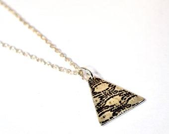 textured triangle pendant