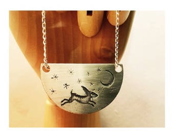 Moon Hare Necklace