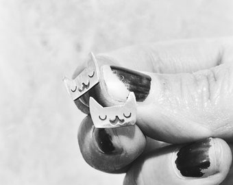 Moggy cat studs - post earrings