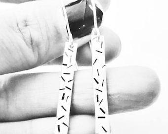 Sprinkles sterling silver dangle drop earrings