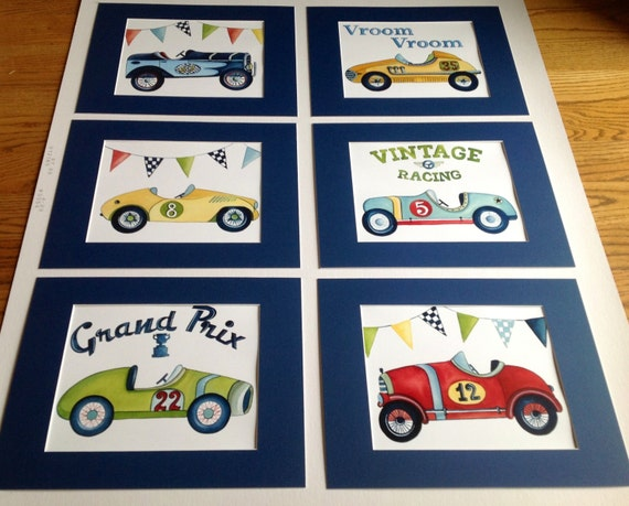 Items Similar To Race Car Art Prints Vintage Race Car
