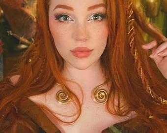 TORQUE necklace with spirals