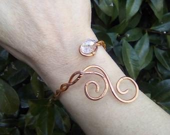 Celtic copper braided torc bracelet