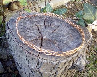 Celtic copper braided  circlet