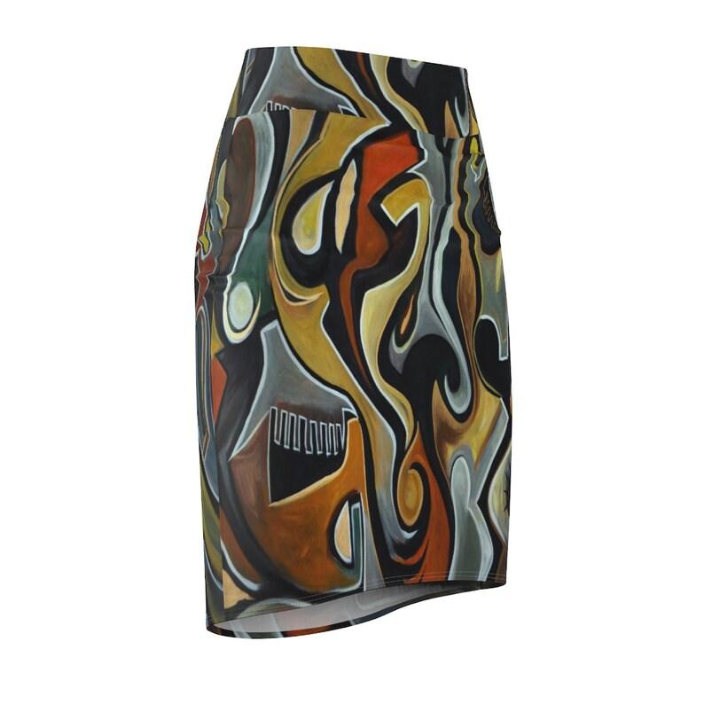 Women/'s Pencil Skirt Labyrinth