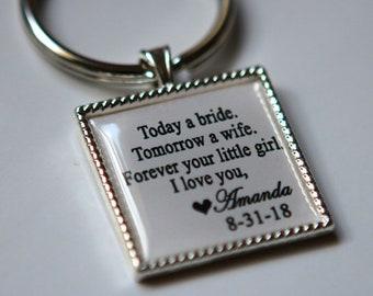Custom key chain for Father of Bride wedding gift father of the bride keychain, custom keychain, personalized keychain