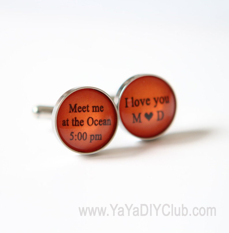 Burnt Orange Wedding gift for groom from bride Beach Wedding image 0