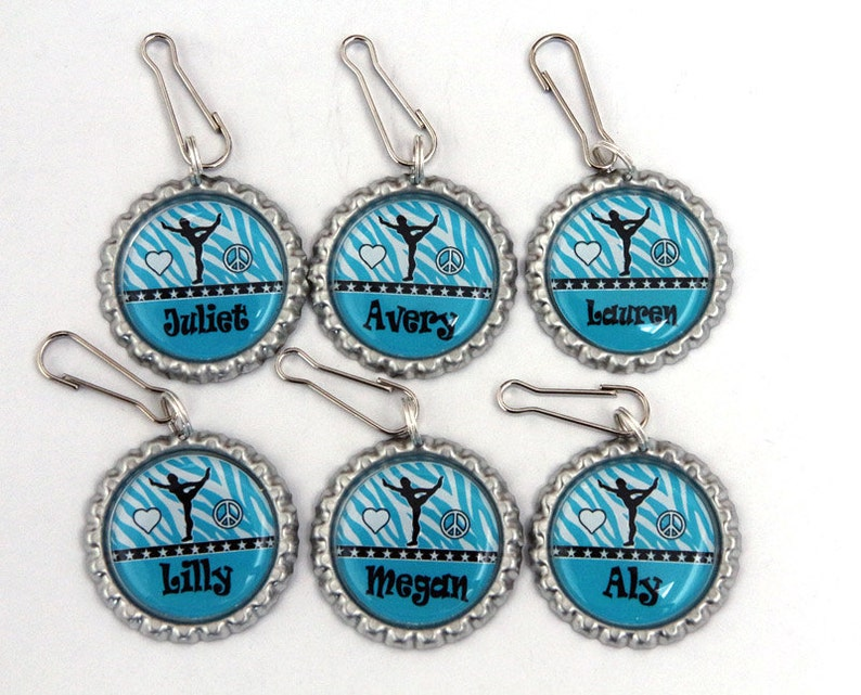 girls gymnastics party favors blue zebra party image 0