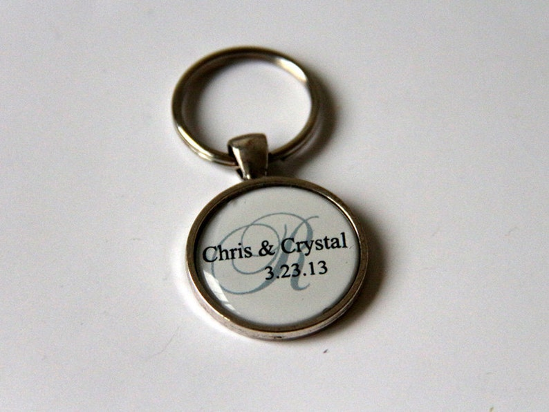 wedding save the date keychain unique wedding favors custom image 0