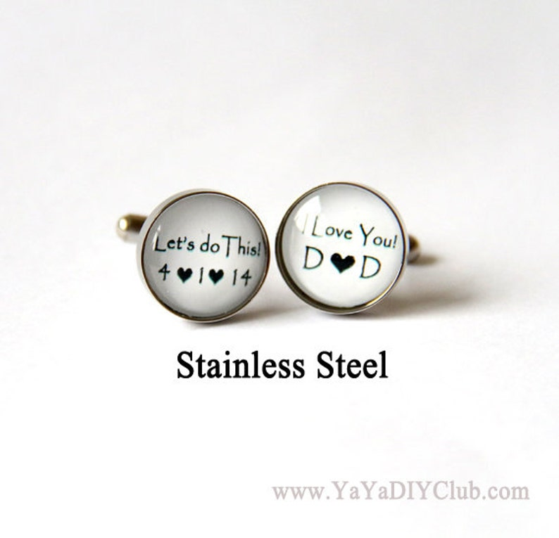 Grooms Gift from bride Wedding Cufflinks for Groom Cuff image 0