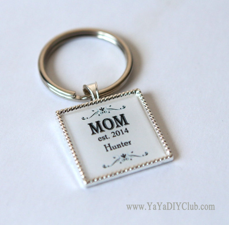 Personalized gift for mom keychain new mom gift mom image 0