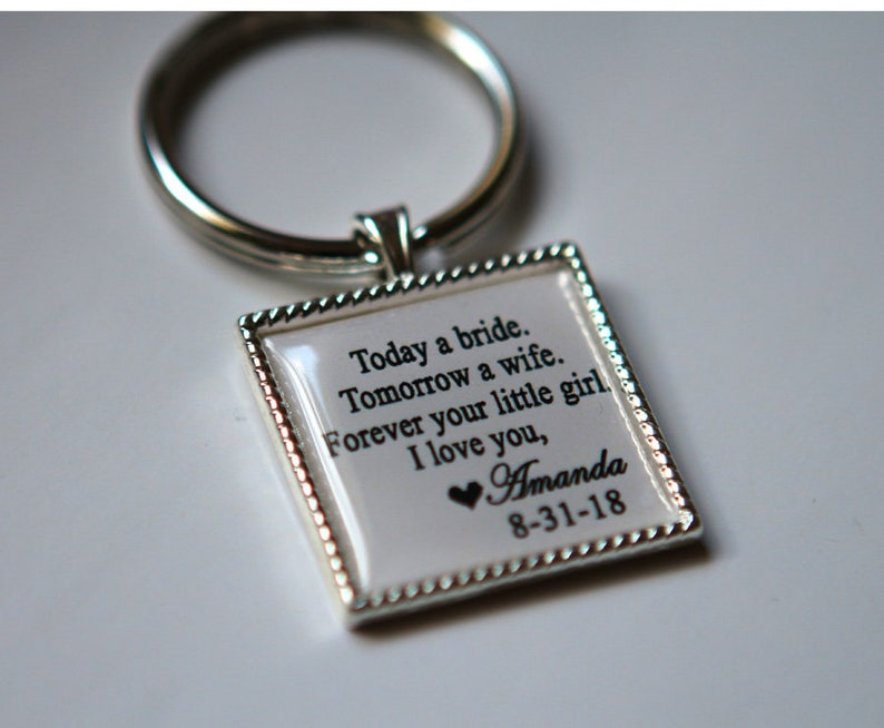 Custom key chain for Father of Bride wedding gift father of image 0
