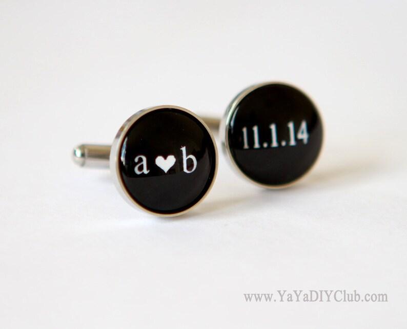 Grooms Gift from bride Wedding Cufflinks for Groom Cuff Links Custom Cufflinks Personalized Cufflinks Groom Gift
