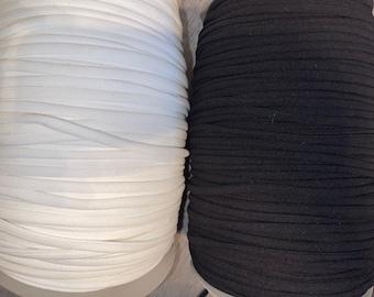 15 yards white fabric spaghetti strap cord