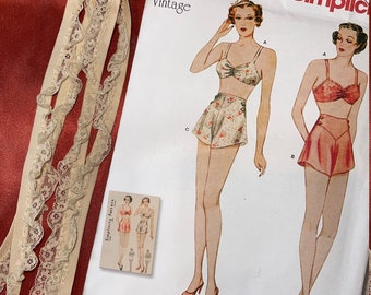 Simplicity #8510 Vintage 1930/'s Bra /& Panties Lingerie Sewing Pattern Size 4~20