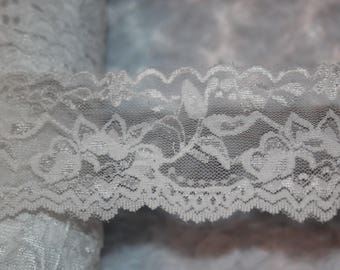 """1 yard Gold Nude Dark Coffee Brown lingerie craft sewing STRETCH LACE 7/"""" Wide"""