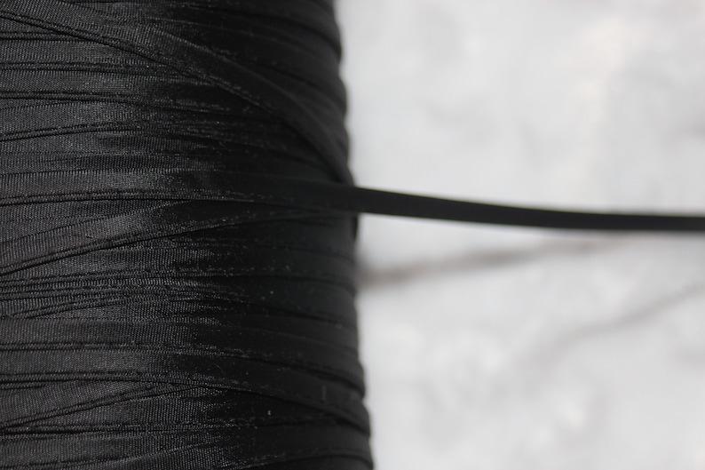 "10 yards knit black tube CORD spaghetti replacement drawstring string 1//4/"" #63"