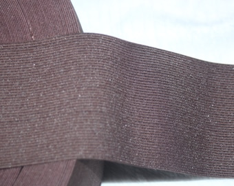 """1 yard Chocolate Brown 2.75"""" wide boxer knit waistband sewing knitted elastic"""
