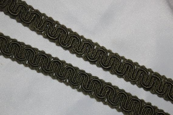 "5 yards metallic silver braid braided pleather sewing costume trim 1//2/"" wide g"