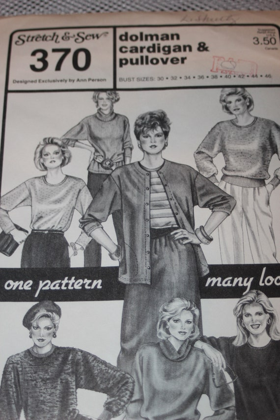 UNBESCHNITTENEN Vintage Stretch & Nähen Nähen Muster 370 Damen | Etsy
