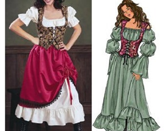 Butterick 3906 costume sewing pattern Size 12 14 16 Old West Barmaid Renaissance Wench Gypsy Victorian Edwardian Steampunk
