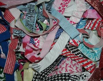 "Clearance Random Grab Bag 10 yards Random Selection remnants Animal Leopard Cheetah Tiger Print FOE foldover fold over elastic 5/8"""