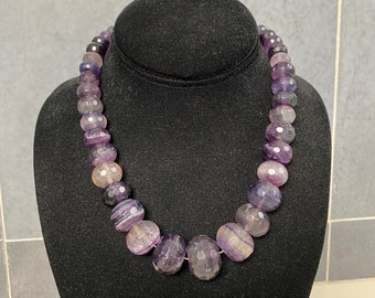 Mine finds Jay King amethyst graduated bead necklace