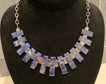 Gorgeous lapis and sterling silver necklace