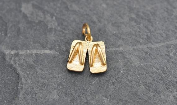 Japanese Geta Slippers Vintage 14k gold charm - zo