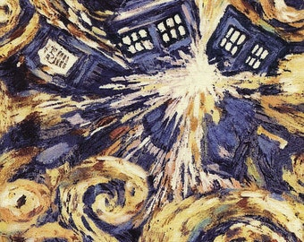 BBC Doctor Who Exploding Tardis - Springs Creative - 1 yard - More Available - BTY