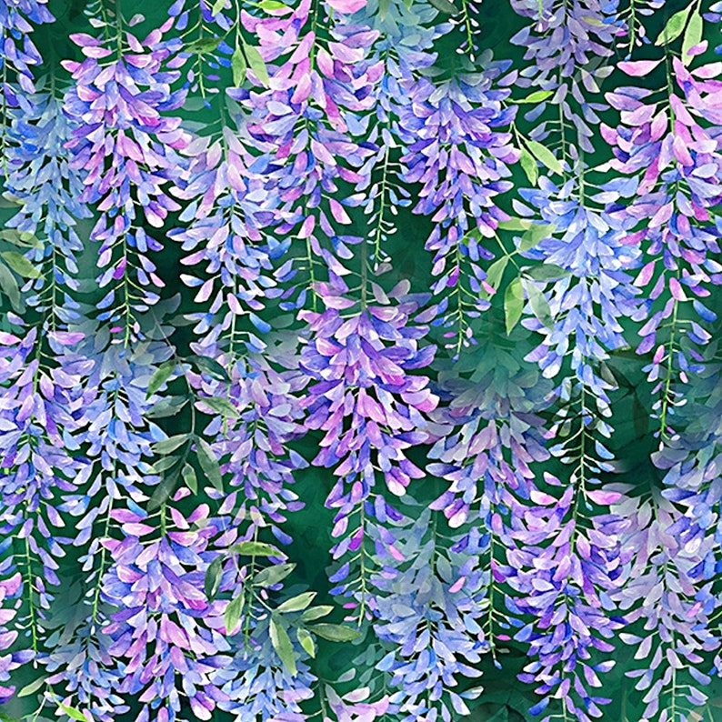 By the Yard New More Available When in Wisteria Digital 1 Yard Hoffman Fabrics