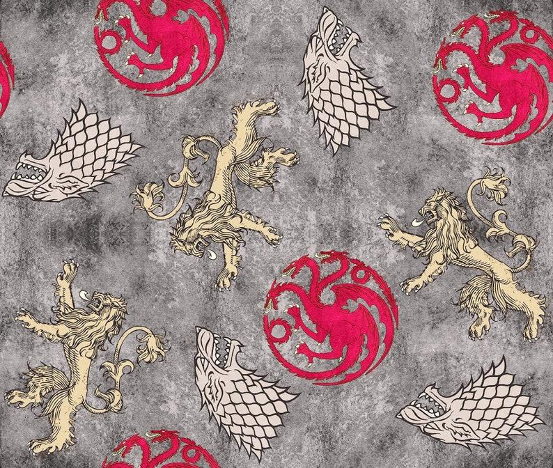 Lannister and Targaryen Sigils Half Yard Springs Creative HBO Game of Thrones House Stark