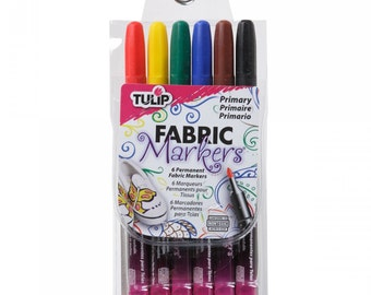 Color Me Fabric Markers -Tulip - Primary 6 Colors