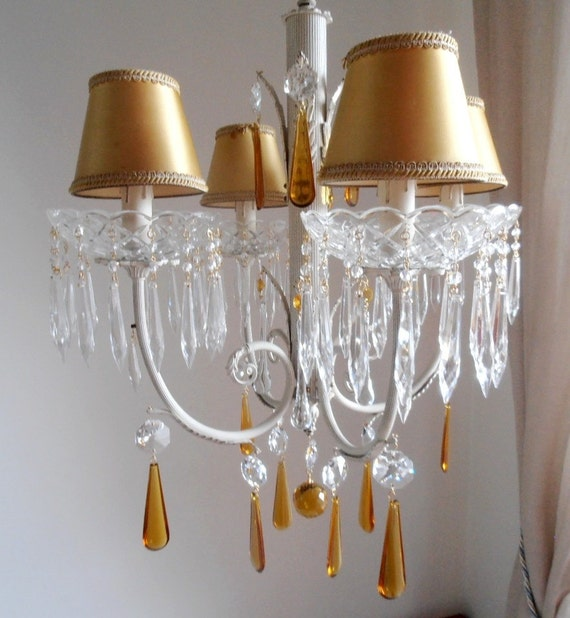 Murano Chandelier Nz: On Sale Crystal Chandelier With Murano Glass Yellow Drops