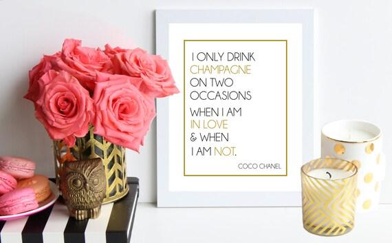 Ich Nur Trinken Champagner Auf Zwei Gelegenheiten Wenn Ich Bin