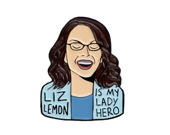 Liz Lemon 30 Rock enamel lapel pin