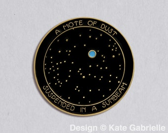 Carl Sagan Pale Blue Dot inspired enamel lapel pin / Buy 3 Pins Get 1 Free with code PINSGALORE