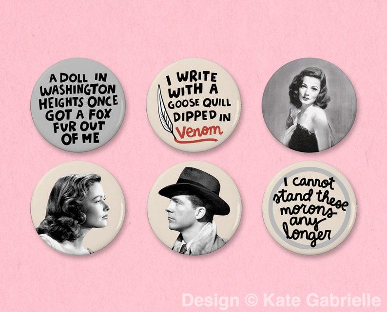Laura classic movie button set
